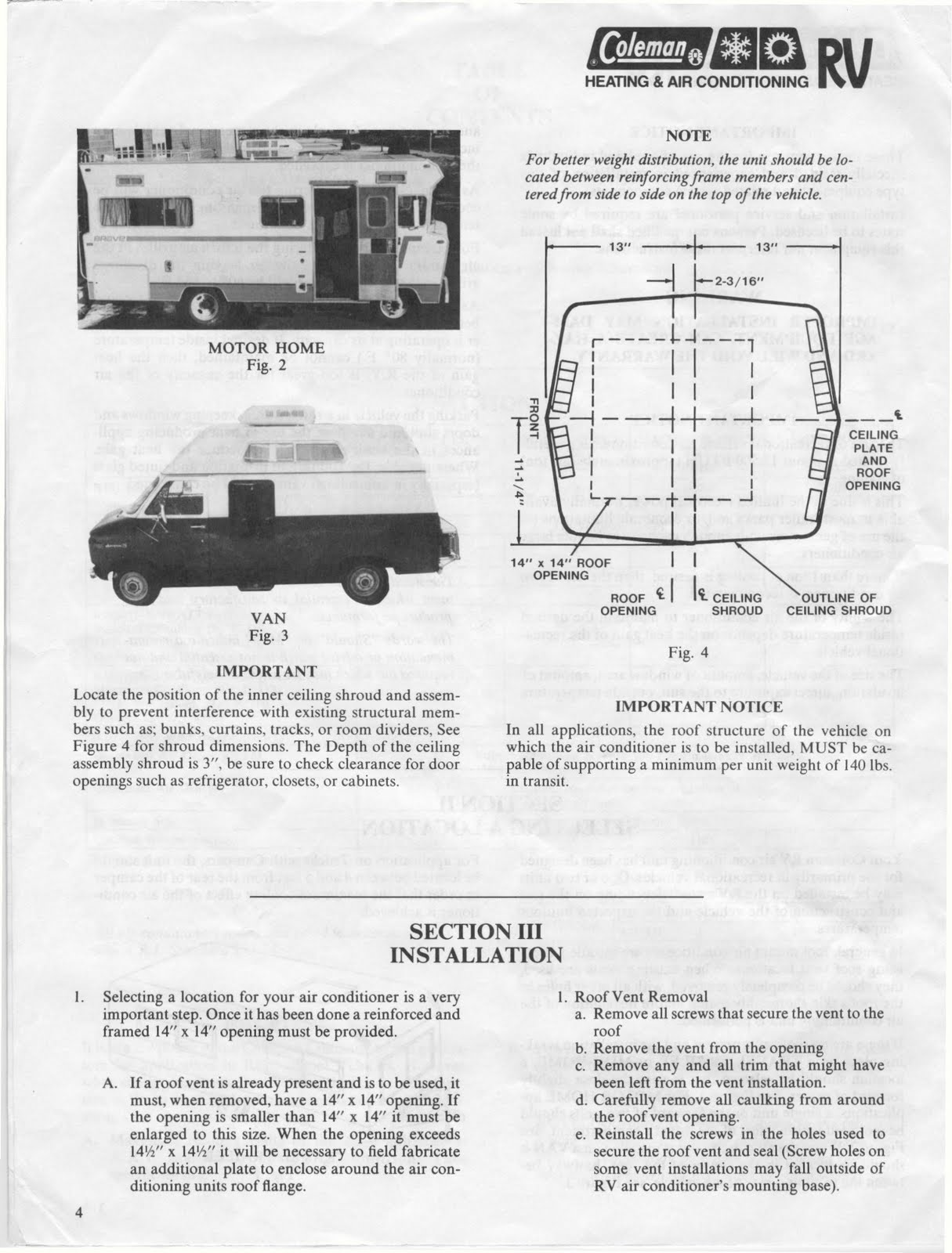 Coleman Rv Air Conditioner Wiring Diagram Install Wireless Remote Warn Winch 1983 Fleetwood Pace Arrow Owners Manuals